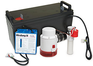a battery backup sump pump system in Mount Bethel
