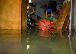 Flooded crawl space in Stroudsburg